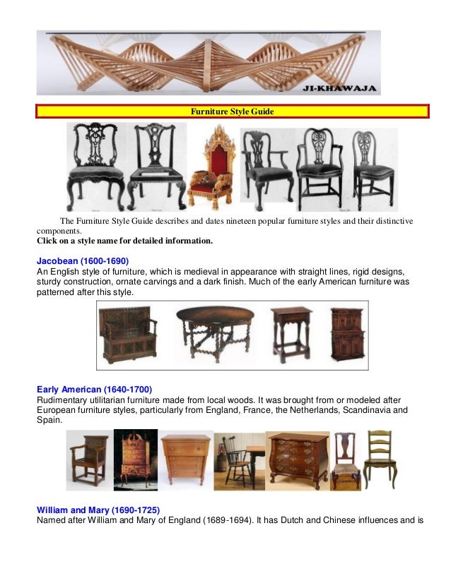 Furniture Design Styles styles of furniture design - home design