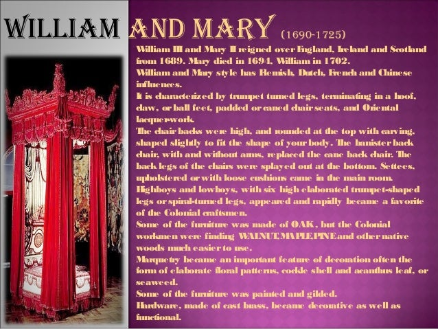 William And Mary (1690 1725); 13.