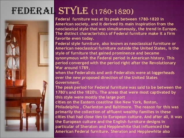 FEdErAL STYLE; 28.