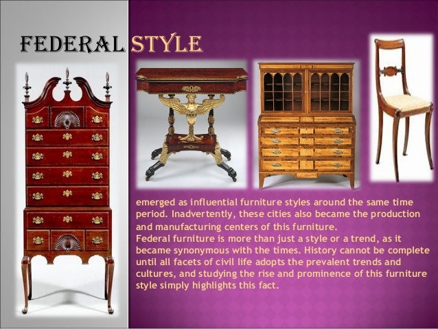 Furniture styles development timeline