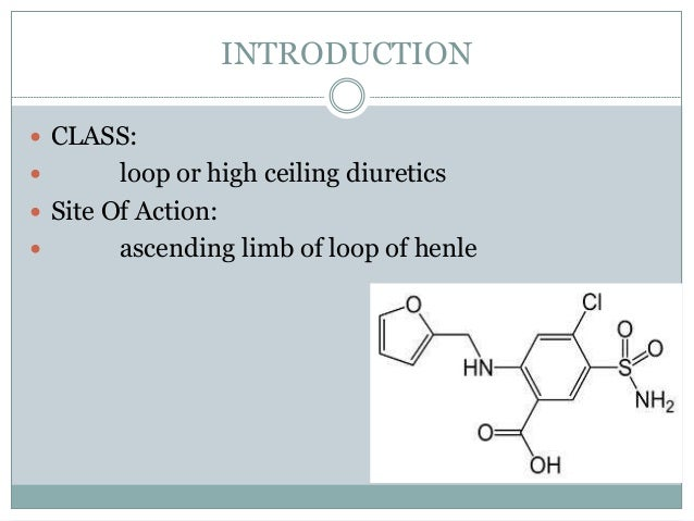 Lasix Furosemide Classification