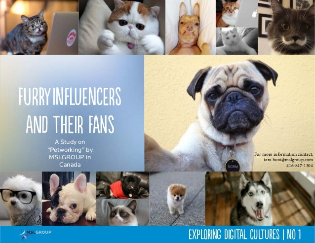 "A Study on ""Petworking"" by MSLGROUP in Canada FurryInfluencers and their fans Exploring Digital Cultures 