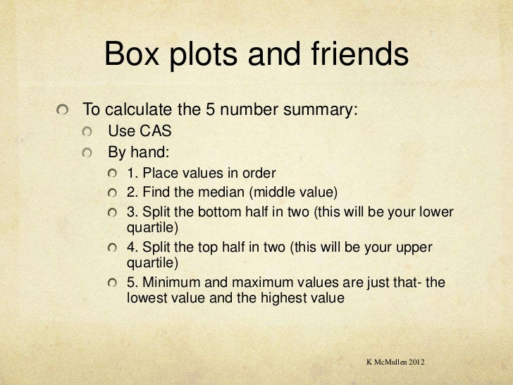 how to make a box plot with 5 number summary