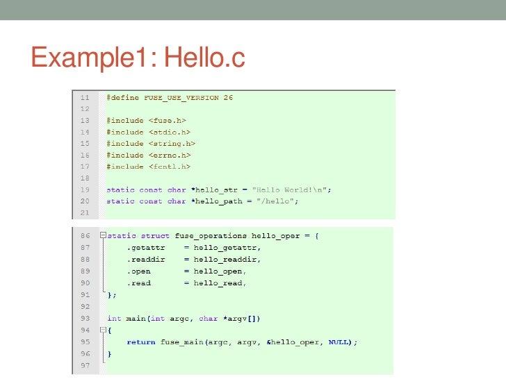 Example1: Hello.c                    29