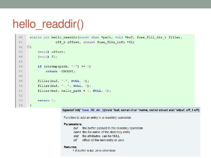 hello_readdir()                  31