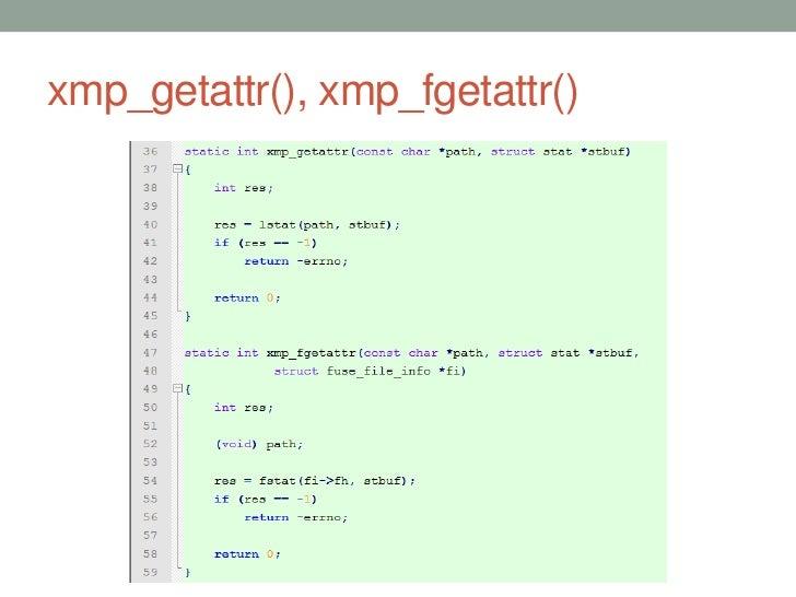 xmp_getattr(), xmp_fgetattr()                                36