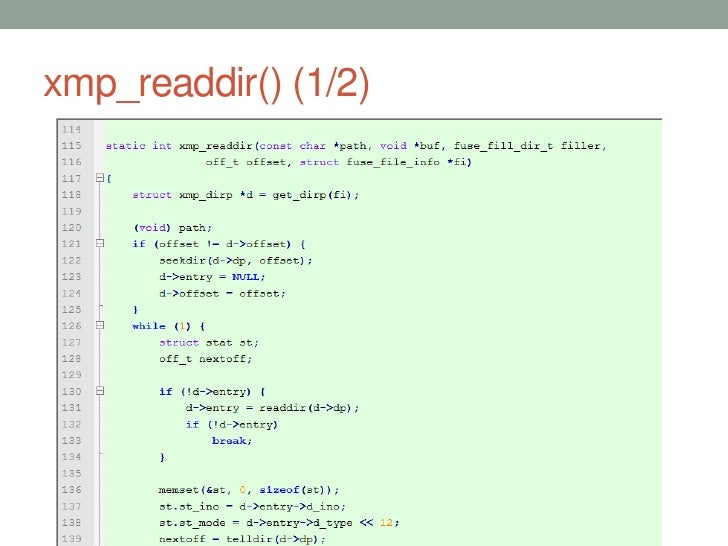 xmp_readdir() (1/2)                      39