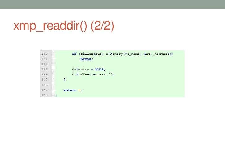 xmp_readdir() (2/2)                      40