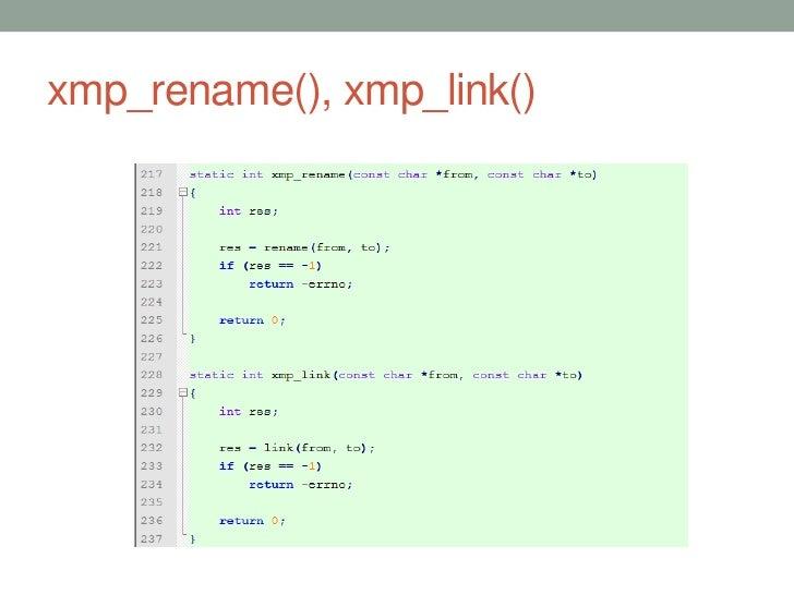xmp_rename(), xmp_link()                           44