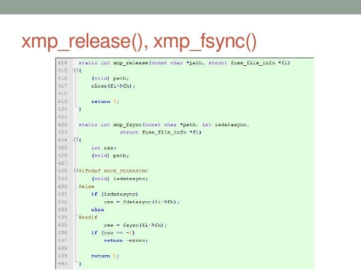 xmp_release(), xmp_fsync()                             52
