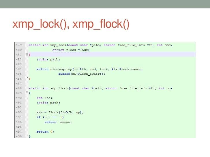 xmp_lock(), xmp_flock()                          55