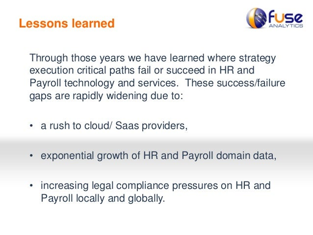 Fuse Analytics - HR & Payroll Cloud Transformation Pitfalls