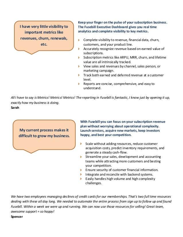 Fusebill: Solutions for the Business Owner Slide 2