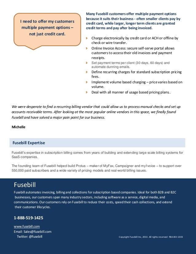 Fusebill: Solutions for the Business Owner Slide 3