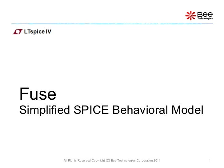 Simple model of Fuse(LTspice)
