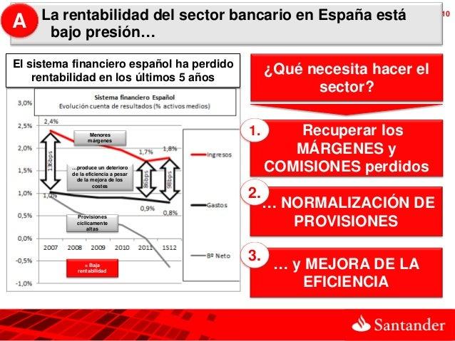 A    La rentabilidad del sector bancario en España está                  10      bajo presión…El sistema financiero españo...