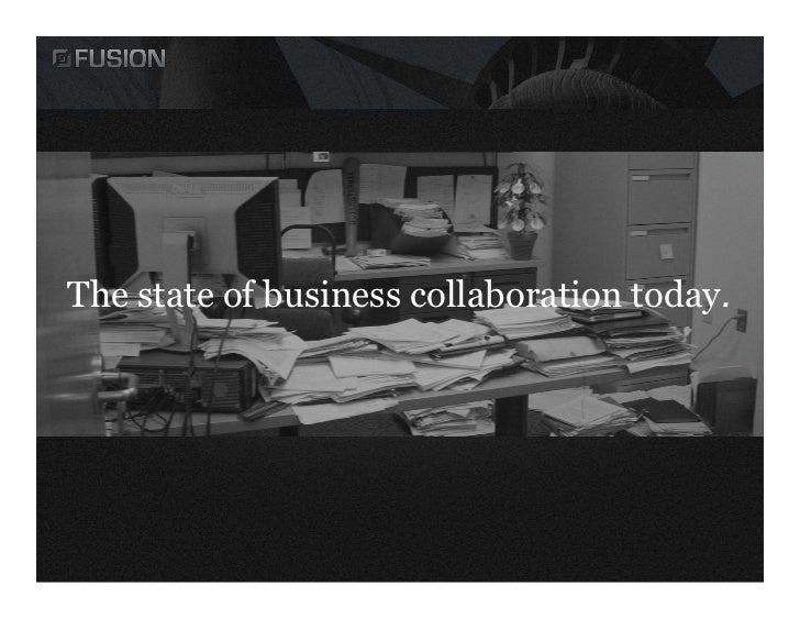 The state of business collaboration today.