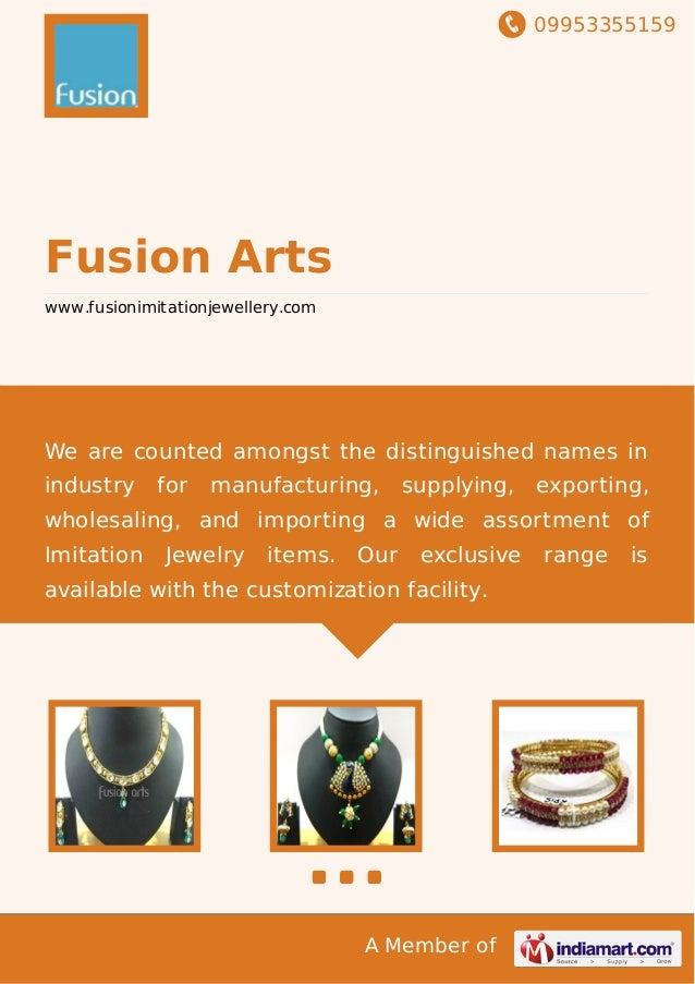 09953355159 A Member of Fusion Arts www.fusionimitationjewellery.com We are counted amongst the distinguished names in ind...