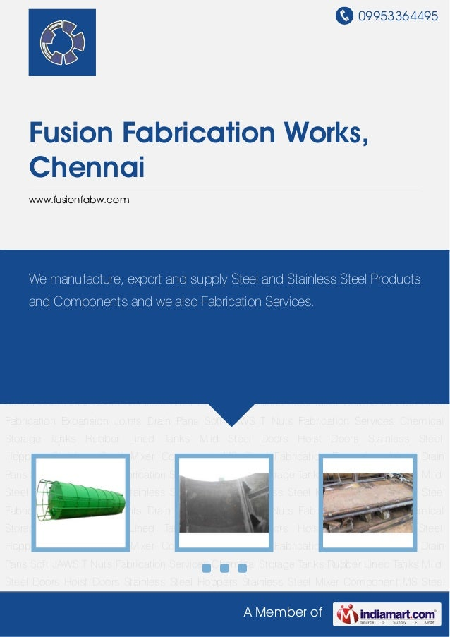 09953364495A Member ofFusion Fabrication Works,Chennaiwww.fusionfabw.comChemical Storage Tanks Rubber Lined Tanks Mild Ste...