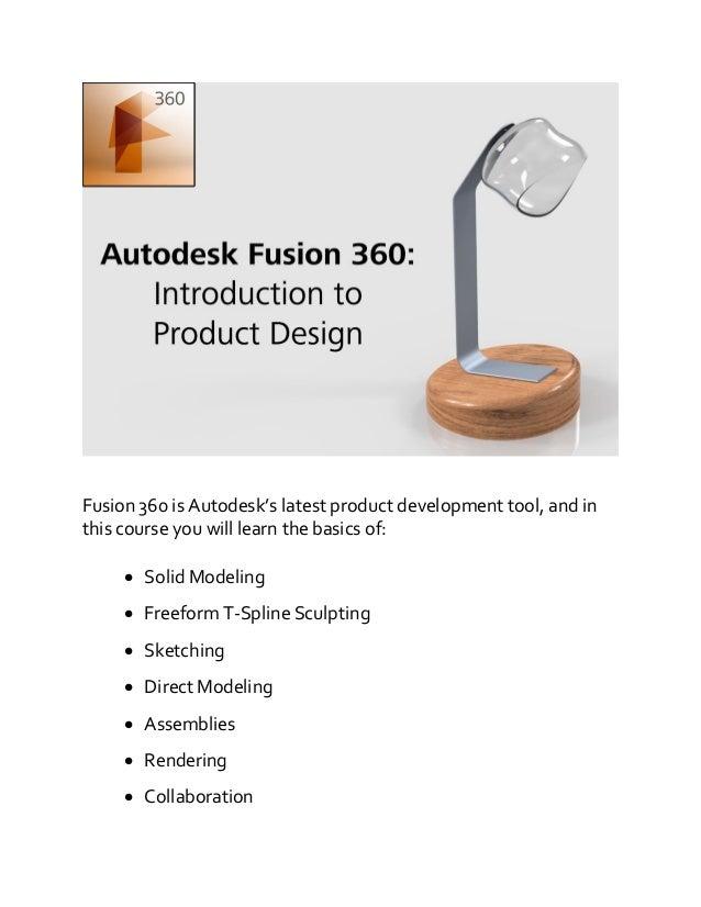 Fusion 360 training course