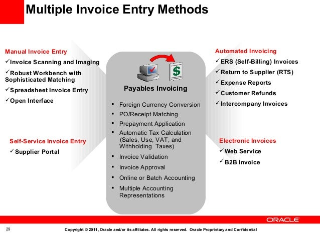 Oracle Fusion Applications Accounts Payables - Invoice scanning app