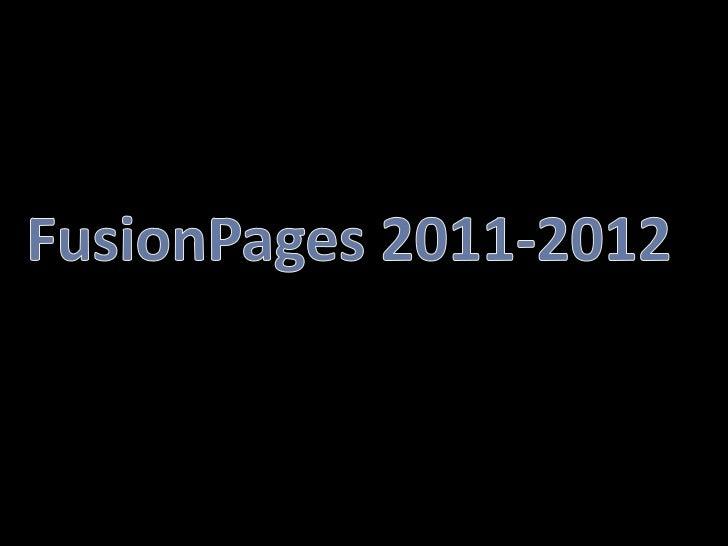 FusionPages 2011-2012<br />