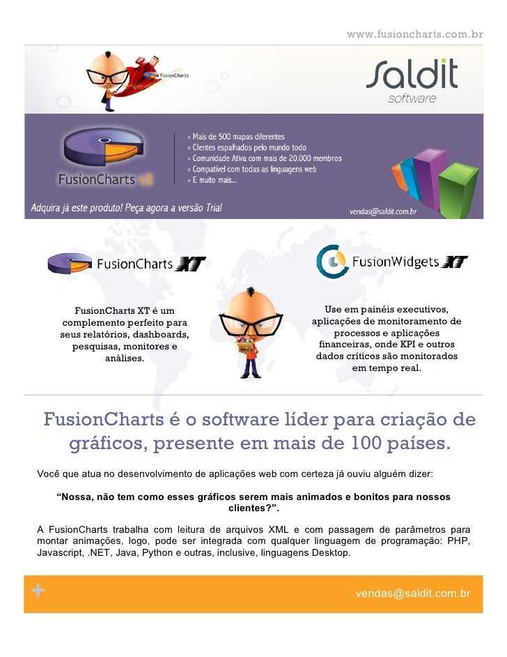 www.fusioncharts.com.br                      page   3       FusionCharts XT é um                                   Use em ...