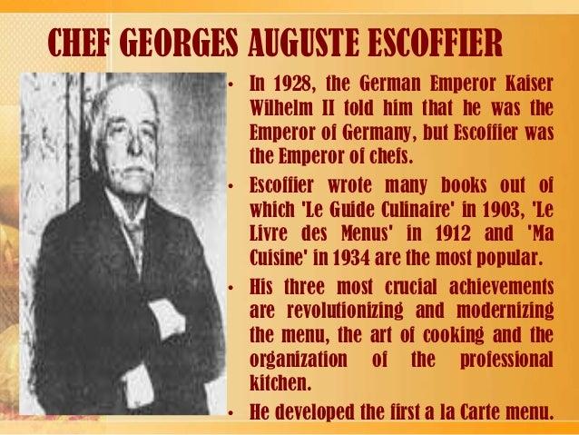 Fusion cuisine for Auguste escoffier ma cuisine