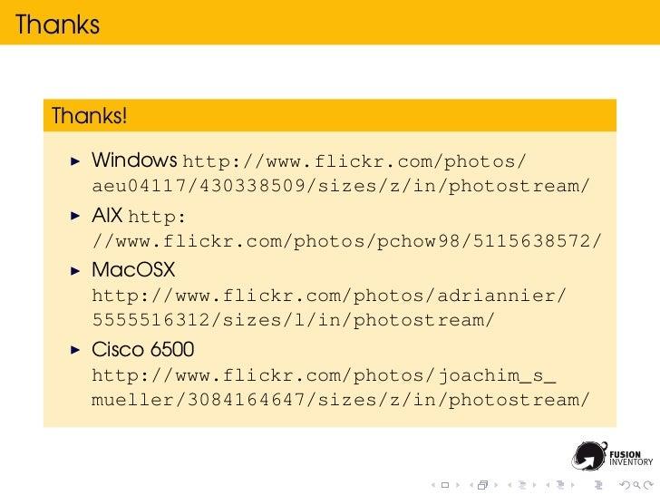 Thanks  Thanks!     Windows http://www.flickr.com/photos/     aeu04117/430338509/sizes/z/in/photostream/     AIX http:    ...