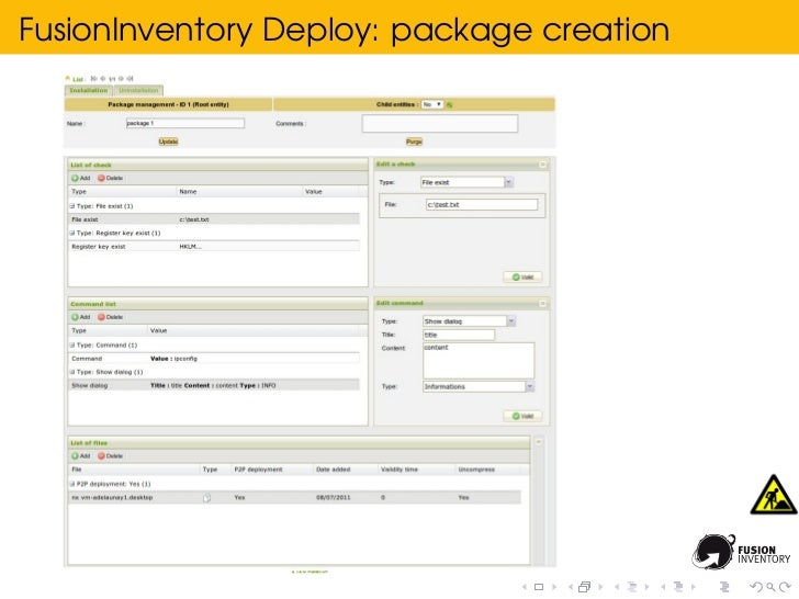 FusionInventory Deploy: package creation