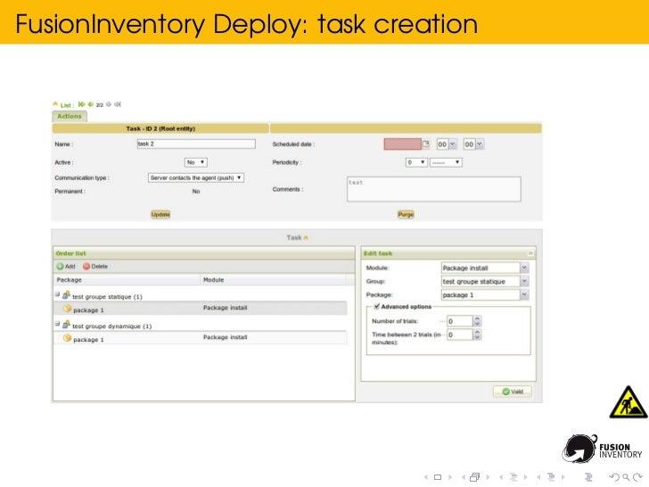 FusionInventory Deploy: task creation