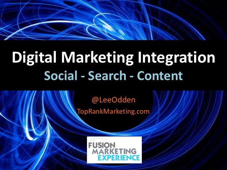 Optimize Strategy - Integrated SEO, Social Media & Content Marketing #fusionmex
