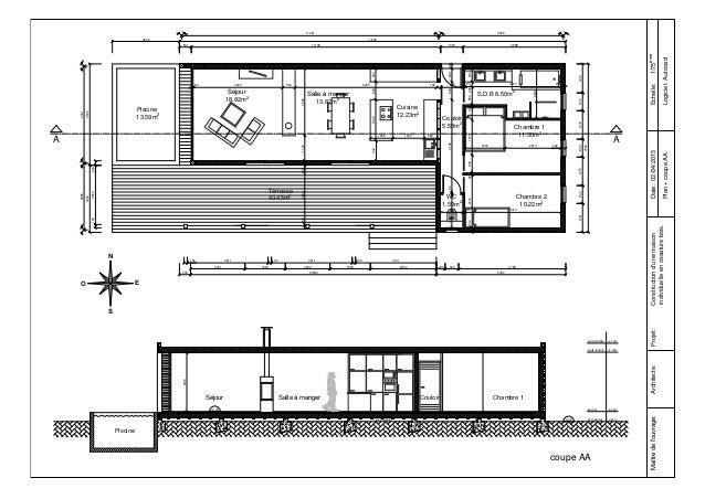 Fusion plan coupe rendu - Plan de coupe maison ...