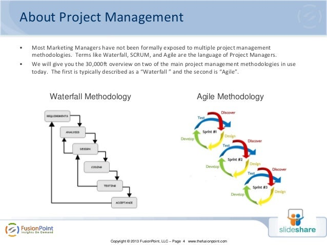 fusionpoint  project management approaches for marketing