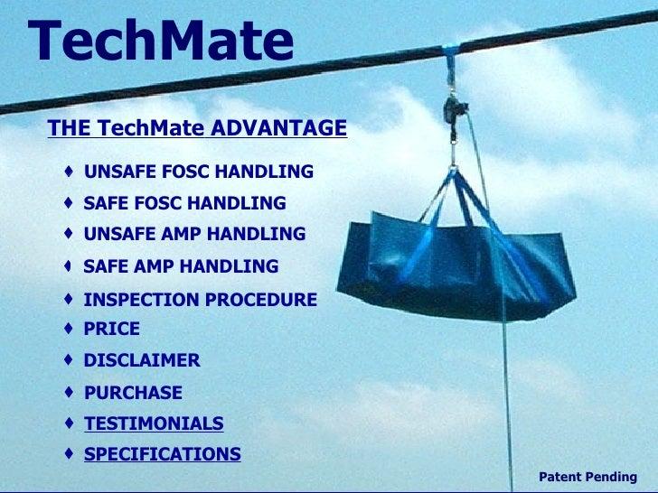 Home THE  TechMate  ADVANTAGE UNSAFE FOSC HANDLING SAFE FOSC HANDLING UNSAFE AMP HANDLING SAFE AMP HANDLING INSPECTION PRO...