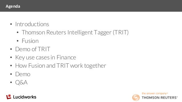 Webinar: Lucidworks + Thomson Reuters for Improved