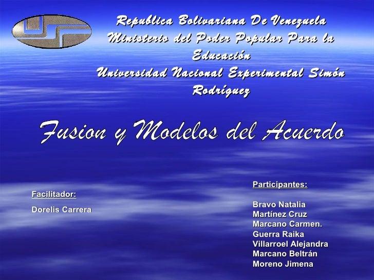 Republica Bolivariana De Venezuela Ministerio del Poder Popular Para la Educación Universidad Nacional Experimental Simón ...