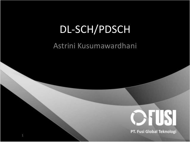 DL-SCH/PDSCH Astrini Kusumawardhani  1