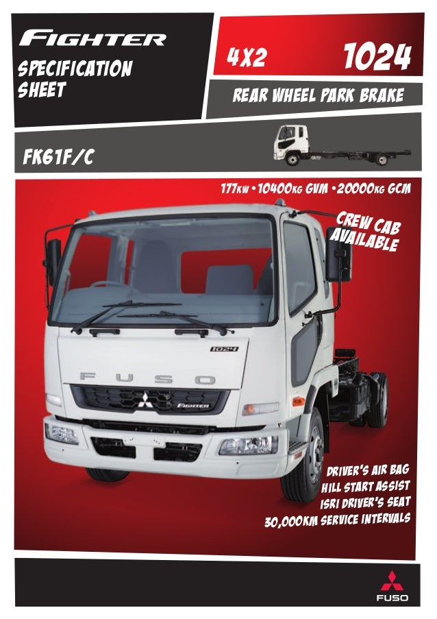 Fuso Fighter Truck Specification Sheet at Hallam Truck Centre