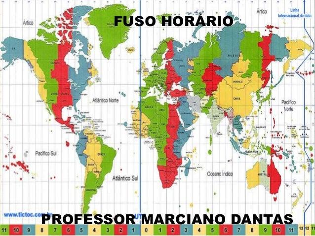 Fuso Horario Professor Marciano Dantas