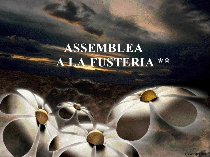 ASSEMBLEA    A LA FUSTERIA **