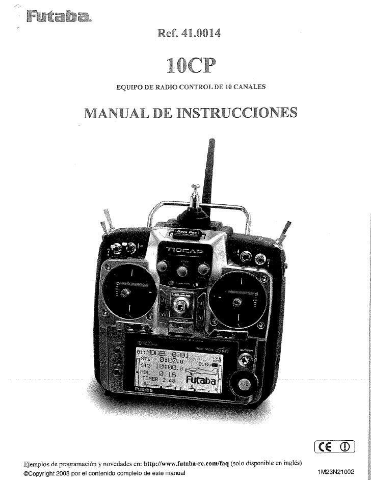 manual Futaba10 Cp
