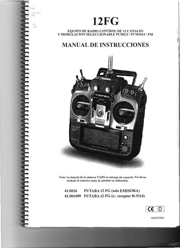 12FG      EQUIPO DE RADIO CONTROL DE 12 CANALES Y MODULACION SELECCIONABLE PCMG3 / PCM1024 / FM                           ...