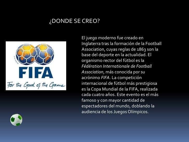 Futbol for Cuando se creo la arquitectura