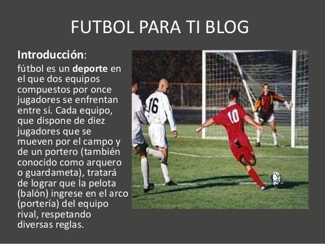Futbol para ti blog for El gimnasio es un deporte