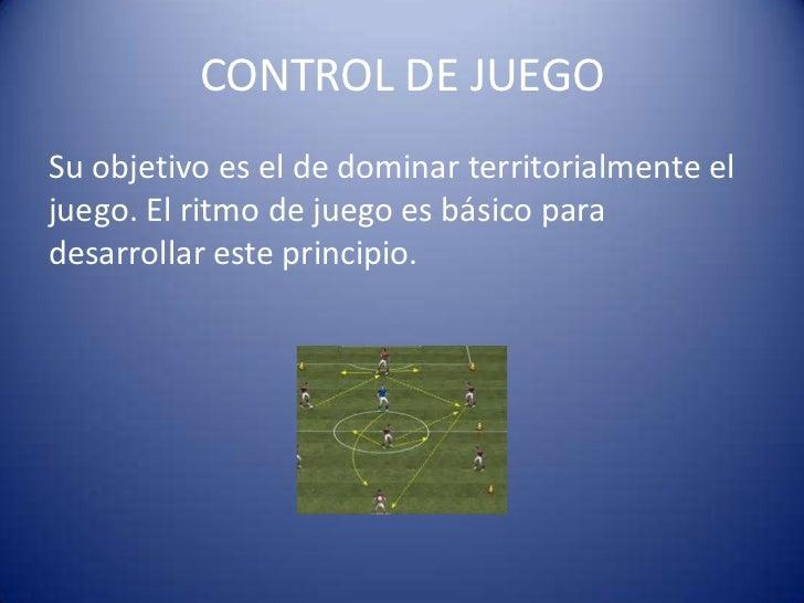 CONTROL DE JUEGOSu objetivo es el de dominar territorialmente eljuego. El ritmo de juego es básico paradesarrollar este pr...