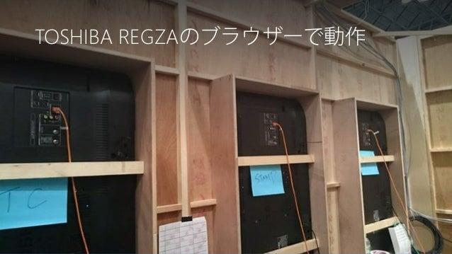 Newphoria Corporation TOSHIBA REGZAのブラウザーで動作