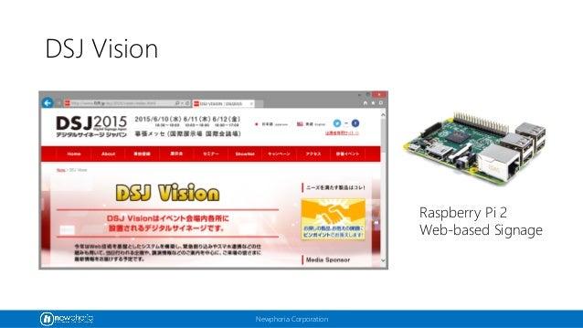 Newphoria Corporation DSJ Vision Raspberry Pi 2 Web-based Signage