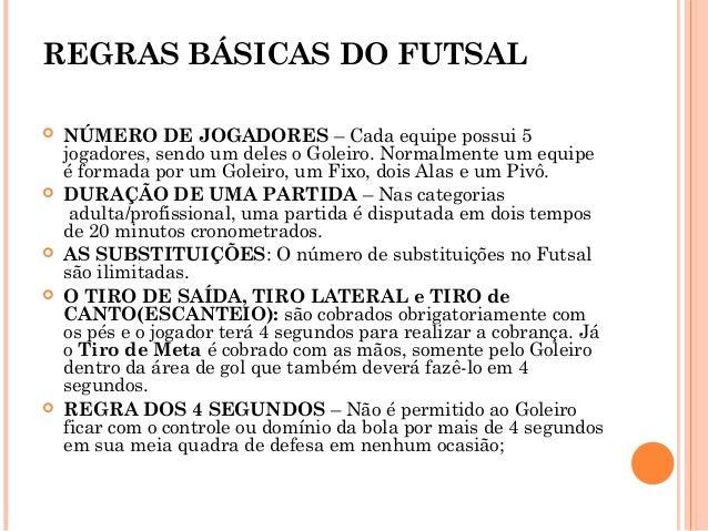 96d27a05046c8 REGRAS BÁSICAS DO FUTSAL ...