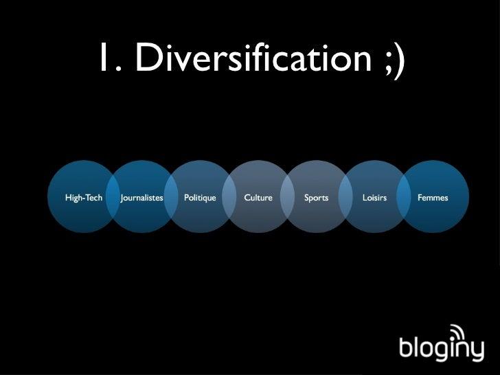1. Diversification ;)